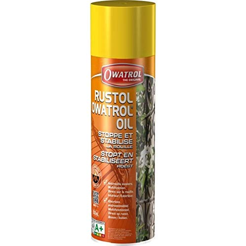 Owatrol - Rustol - Aérosol - 500 ml - Vernis Antirouille - Incolore - Primaire pour Peinture Métal - 727