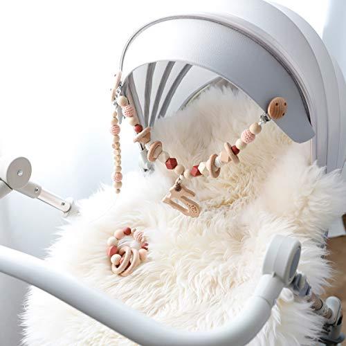 Mamimami Home 3PC Mobile halterung Spielbogen für den Kinderwagen veilchenwurzel baby zahnen schnullerketten zubehör spielbogen holz perlen schnullerkette