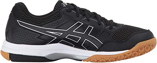 ASICS Women's Gel-Rocket 8 Volleyball Shoe, Black/Black/White, 11.5 Medium US