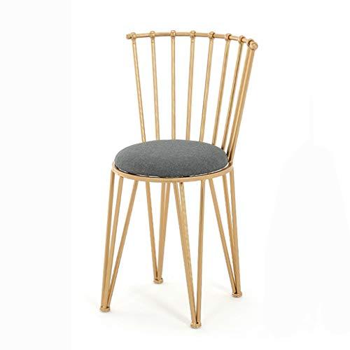 Feng-stool Golden Female Dressing Hocker, Hotel-Ballsaal Restaurant Metall Hocker - Wohnzimmer Bar Winery Haushalt Gastronomie Hocker (Size : 38 * 38 * 80CM)