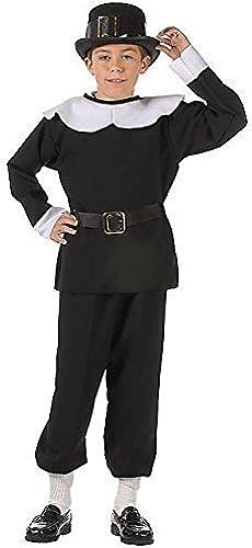 RG Costumes Pilgrim Boy Costume, noir blanc, petit by RG Costumes & Accessories- Toys