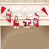 YXYP Weihnachtsmütze, Weihnachtsstrumpf, Bunting Banner, 1 m, Weihnachtsdekoration, Hochzeit, Dekoration