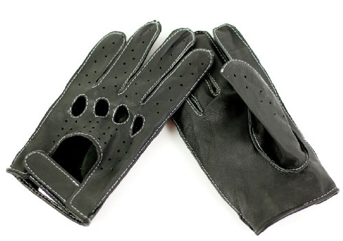 Strike Herren Bikerhandschuhe/Chopper Lederhandschuhe schwarz Gr. L