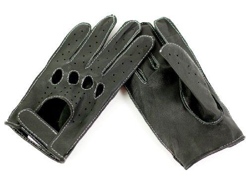 Strike Herren Bikerhandschuhe/Chopper Lederhandschuhe schwarz Gr. XL