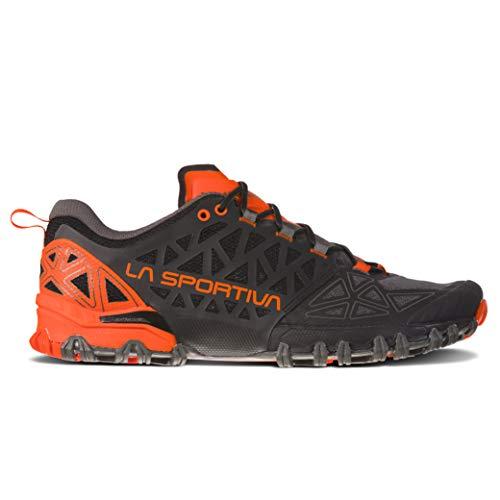 La Men's Bushido II Running Shoe, Carbon/Tangerine, 44