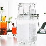 JXZO Trituradora de hielo manual pequeña para el hogar, transparente, máquina de hielo afeitada a mano, agitar una trituradora de hielo para batidos de hielo (color claro)
