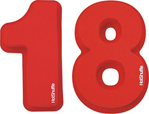 HotShuffle Grand Nombre de Silicone 18 Moule à gâteau Moule 18e Anniversaire Cadeau 1 8
