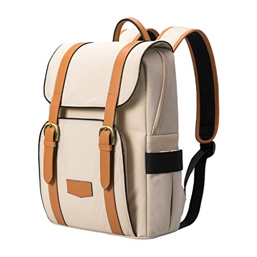 Laptop Bags Laptop Backpack Men and Women Portable Laptop Bag Large Capacity Double-Layer Travel Backpack for 13.3-inch Laptop Briefcases (Color : Beige)