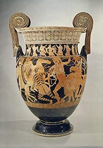 Posterazzi Panatenaic Amphora Greek Art Museo Archeologica Naples Italy Poster Print, (8 x 10)