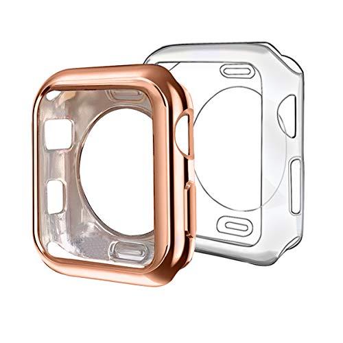 ISENXI - Carcasa de TPU para Apple Watch Series 3 2 1 (42 mm, Ultrafina, Ligera, Resistente a los arañazos)