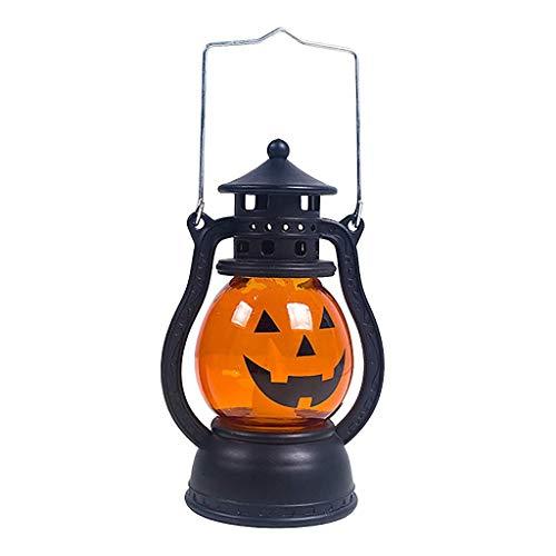 HAOSHUAI Luces de la Secuencia decoración de Halloween apoyos del Partido de Halloween de la Linterna de la Vendimia Que cuelga la decoración de la lámpara de luz portátil (Color : C)