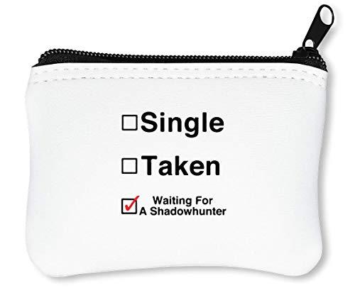 Relationship Status Waiting A Shadowhunter Funny Reißverschluss-Geldbörse Brieftasche Geldbörse