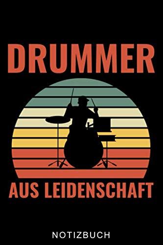 DRUMMER AUS LEIDENSCHAFT NOTIZBUCH: A5 Notizbuch KARIERT für Schlagzeuger | Drumming | Schlagzeug lernen | Schlagzeugbuch für Erwachsene Kinder Anfänger | Drum | Jazz | Geschenkidee