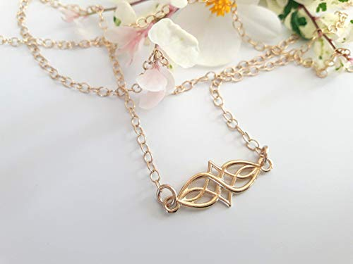Celtic Knot Infinity Necklace for Women - Simple & Dainty Friendship Jewelry for Best Friends and Bridesmaid - 14k Gold Filled Delicate Layering Necklace - Irish Wedding – Spiritual Eternity Symbol
