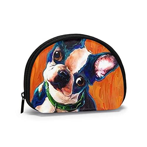 Arancione Bulldog francese carino Unico portamonete stampato a tema Borsa carina Custodia per guscio Portafogli per ragazza Bule Portamonete Portachiavi Gifys Donna Novità