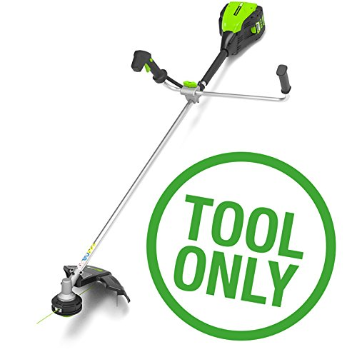 Greenworks GD80BCB 80V Cordless Bike Handle Brush Cutter zonder batterij of oplader