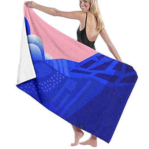 chillChur-DD Bath Towel Toalla de baño Wrap Secret Places Prints Womens SPA Ducha y Envoltura Toallas Natación Albornoz Cubrir para Damas Niñas ^ 80X130 Cm