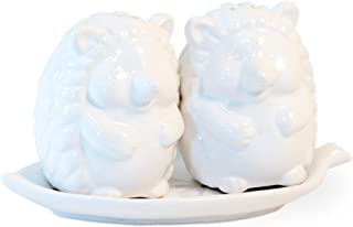 Glossy White Hedgehog 6 x 3 Ceramic Salt and Pepper Set