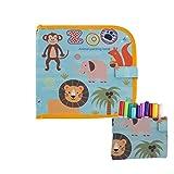 sdfghaWSEfdfghsfgh Puzzle Kinder Tragbare Abwischbar Recycling verwenden Tafel Graffiti Doppelseitiger Album mit gefärbtem Wasser Chalk