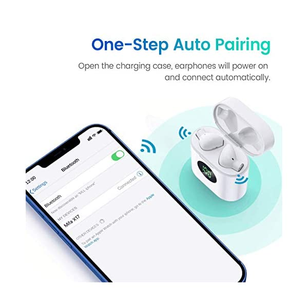 MIFA True Wireless Earbuds, TWS Bluetooth Headphones Stereo Sound Earphones, 30H Playtime Wireless Charging Case & Power…