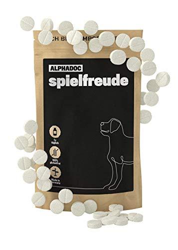 alphazoo spielfreude 120 Gelenk-Tabletten Hunde | Bewegungsfreude & Mobilität | schmerzlindernd | Weidenrinde, Teufelskralle
