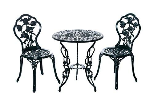 Alta calidad aufwendig gearbeitetes Bistro Mesa Set, 15240/C1 547 Estable Juego de muebles de jardín, balcón, Bistro Set,