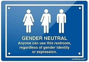 BESTWD Bathroom Metal Sign Gender Neutral info, 8