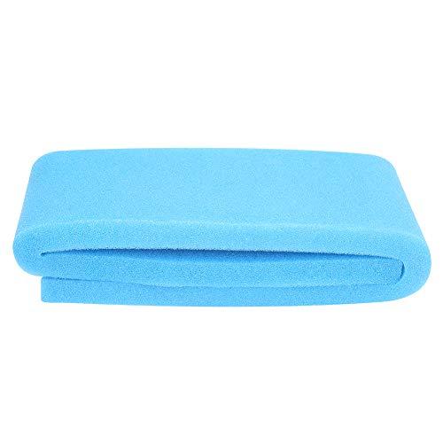 Pssopp Spugna Filtro Acquario Filtro Cotone biochimico Acquario Batteri filtraggio Acquario Miglioramento della qualità dell'Acqua Filtro Spugna di Cotone per Acquario(Blu)