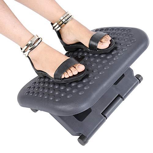 Repose-pieds réglable - Repose-pieds pour soutenir les pieds avec massage d'acupression - Repose-pieds réglable en hauteur - Détendez-vous au bureau