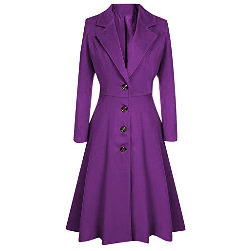 Cappotto Donna Lana Invernale,Cappotto Donna Lunghi Taglie Forti Giacche Donna Trench...