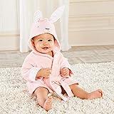 feiren Albornoz de bebé con diseño de panda, de algodón puro con capucha, toalla de baño de playa/ratones, bata de spa (color: conejito)