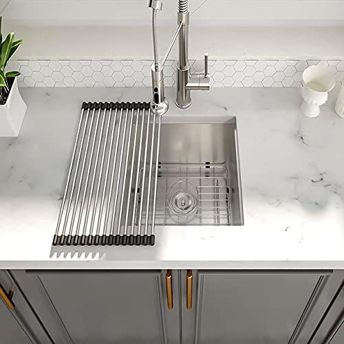 """Bar Sink Undermount - Couoko 14""""x18"""" Bar Prep Sink Undermount Stainless Steel 18 Gauge Single Bowl Kitchen Sink RV Sink Basin"""