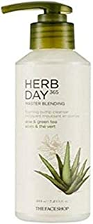 The Face Shop Herb Day 365 Master Blending Aloe and Green Tea Foaming Pump Cleanser,
