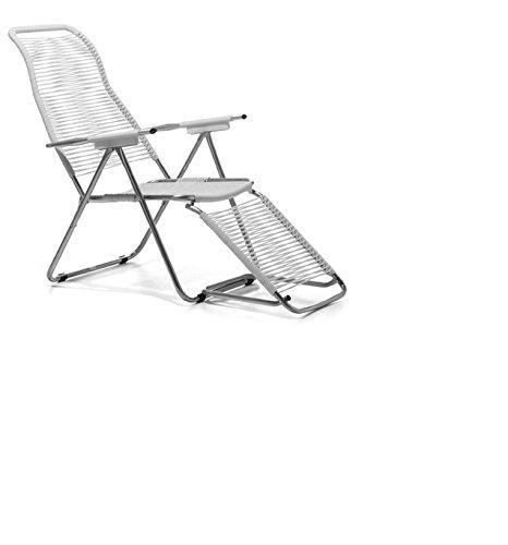 jan kurtz fiam spaghetti chair weiss sonnen liegestuhl mit ausklappbarem fußteil