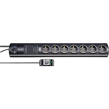 Brennenstuhl 1153380315 Super Solid 13 500 A Surge Protection Socket Strip 5 Sockets Black Light Grey Baumarkt