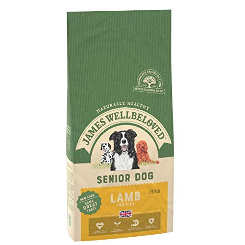 James Wellbeloved Complete Dry Senior Dog Food Lamb and Rice, 15 kg