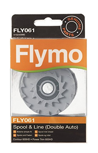 Flymo FLY061 - Carrete de hilo doble para cortacésped (2 mm)