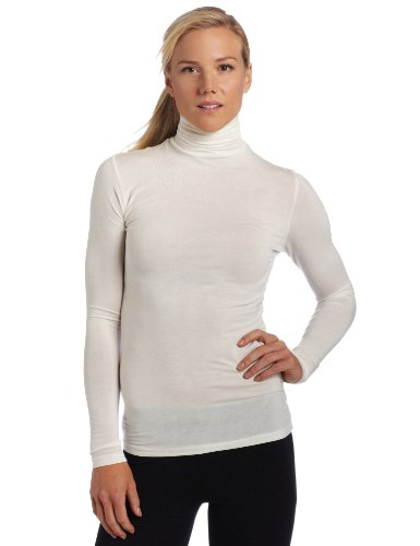 Cuddl Duds Women's Softwear l/s Turtleneck top, Ivory, X-Large