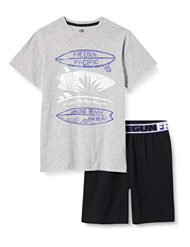 Freegun EG.FGGRA.PSHB.MZ Juego de Pijama, Noir/Imprime, 10 años para Niñas