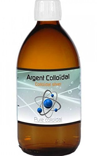 ARGENT COLLOIDAL 25 PPM QUALITE PROFESSIONNELLE 500ML