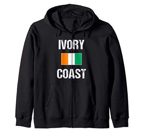 Costa de Marfil Bandera Marfileño Ivory Coast Sudadera con Capucha