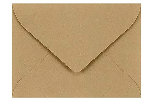 LUXPaper #17 Mini Envelopes in 70 lb. Grocery Bag for 2 9/16 x 3 9/16 Cards, Printable Envelopes for Gift Cards and Thank You's, with Moistenable Glue, 50 Pack, Envelope Size 2 11/16 x 3 11/16 (Brown) 50 Off Gift Certificates