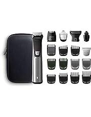 Philips MULTIGROOM Series 7000 MG7770/15 - Afeitadora recargable (Negro, Plata, Rectángulo, Barba, Oído, Ceja, Moustache, Nariz, 300 min, Integrado, Batería)