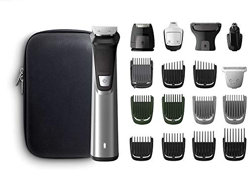 Philips MULTIGROOM Series 7000 MG7770/15 - Afeitadora recargable (Negro, Plata, Rectángulo, Barba, Oído, Ceja, Moustache, Nariz, 300 min, Integrado, Batería)