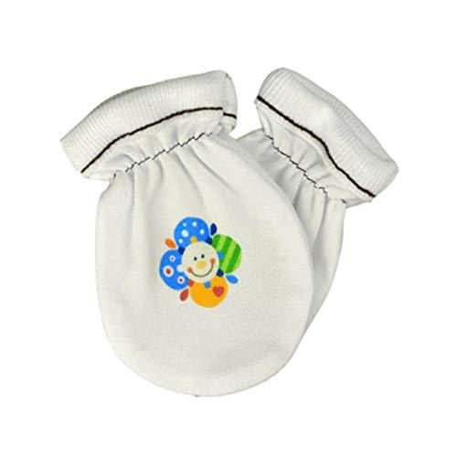 For Babies - neonato guanti antigraffio in cotone biologico al 100% || per ragazzi e ragazze || - Made in EU (fiore)