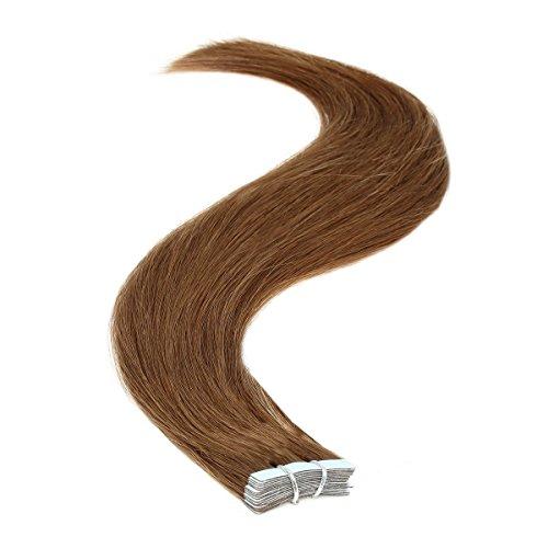 Ruban adhésif en Extensions de cheveux | 45,7 cm | 50PS | 50 g | Marron chocolat (6)