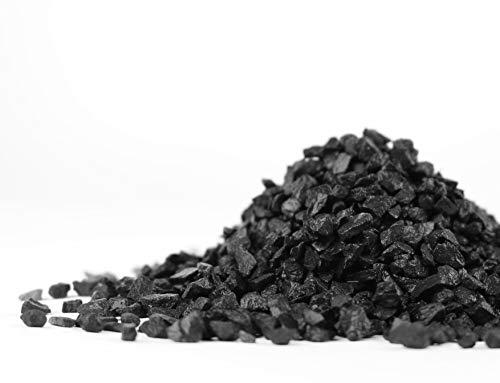 TM Aquatix - Grava para acuario, color negro, sustrato de tierra natural negra 3-5 mm / 30 kg