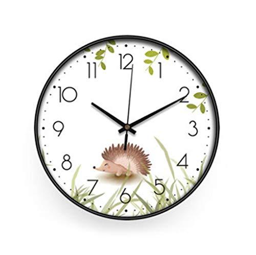 Dibujos Animados Encantador Reloj De Pared Ins Inicio Moda DecoracióN Estilo Europeo Reloj De Pared Digital Movimiento Silencioso para Dormitorio De Los NiñOs Sala Oficina Estudiar 12inch,C