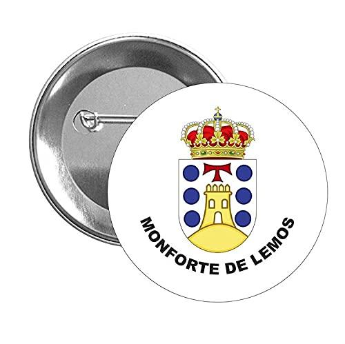 CHAPA ESCUDO HERALDICO MONFORTE DE LEMOS VERSION 2 LUGO