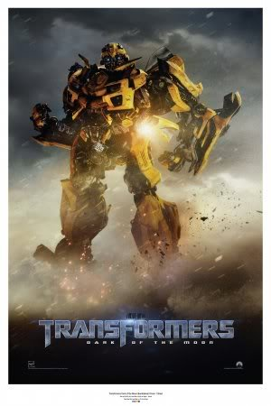 TRANSFORMERS 3 DARK OF THE MOON - BUMBLEBEE - US MOVIE FILM WALL POSTER - 30CM X 43CM